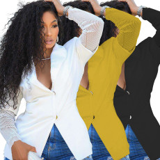 Fashion and leisure net pure color suit coat