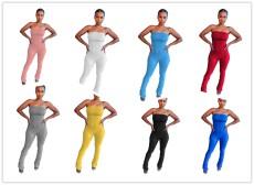 Skinny high stretch flared Jumpsuit