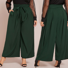 Slim versatile wide leg pants loose casual pants