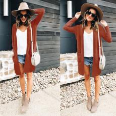 Fashion sweater bag cardigan solid color jacket
