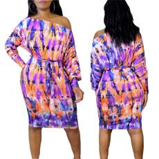 Waistband Pullover print dress