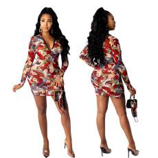 Print sexy dress