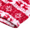 Christmas deer print top Plush Lapel loose long sleeve zipper sweater