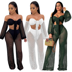 Sexy fashion hollow out cover up hip beach suit