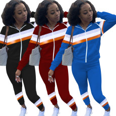 Zipper sports casual fashion suit