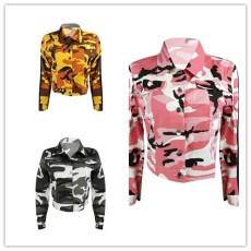 Fashion fashion sexy camouflage coat