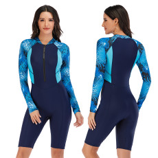 One piece long sleeve surfsuit sexy swimsuit