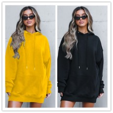 Fashion casual sport long sleeve solid dress