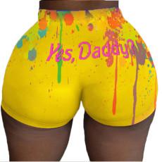Sexy print hot pants