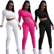 Pants pleated sports pants set