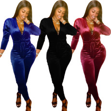 Fashion sexy V-neck Jumpsuit