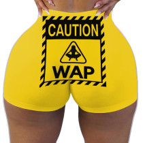 Sexy women's tight shorts Print Shorts Yoga Pants