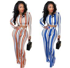 Fashion sexy stripe two piece set