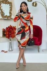 Fashion casual tight print dress