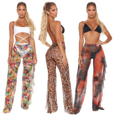 Sexy fashion printed mesh beach pants