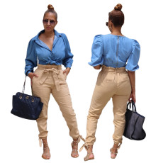 Casual fashion super stretch one piece pants