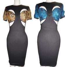 Sexy cut out Hip Wrap Dress