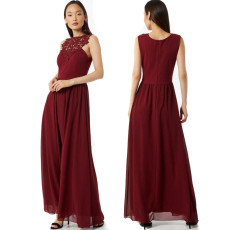 Sexy solid color evening dress
