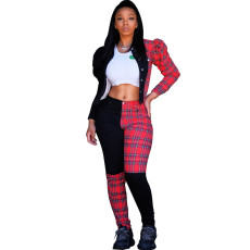 Two piece Plaid set