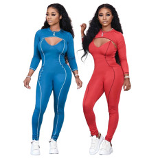 Casual pants sexy V-neck Jumpsuit