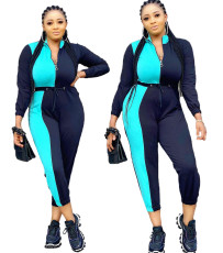 Color matching long sleeve Jumpsuit
