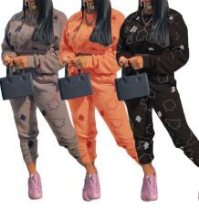 New rust multi color printing sanding suit