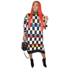 Fashion Plaid Dress