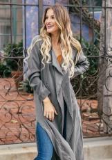 Casual grey windbreaker cotton fashionable suit coat