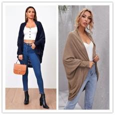 V-neck cardigan bottom knitted sweater coat