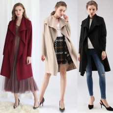 Long sleeve splicing cardigan Maoni coat