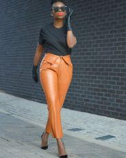 Fashionable Pu pants