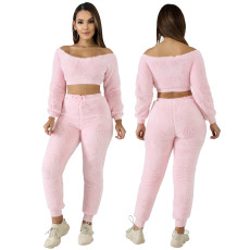 Pit velvet two piece home and leisure set