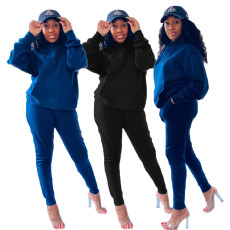 Fashion two piece Hooded Sweater Set