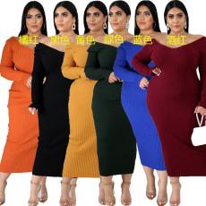Sexy V-neck Hip Wrap A-line dress