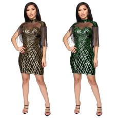 Sequin tassel dress