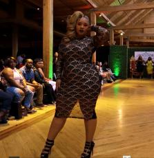 Sexy fan Beaded A-line Hip Wrap Dress