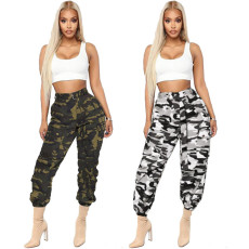 Fashion casual camouflage overalls