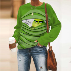 Round neck Green Street trendy cotton top