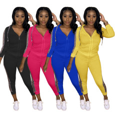 Long sleeve thickened leisure two piece set