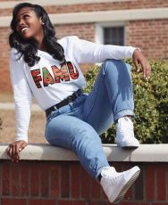 Fashion print top with letters on the chest