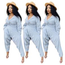 Leisure high waist Harlem pants suit