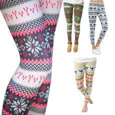 Snowflake digital print classic Leggings