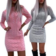 Sexy long sleeve hairy dress