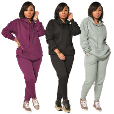 Two piece sport suit with thickened Plush bottom