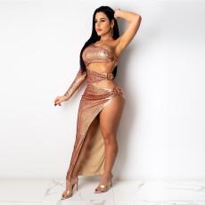 Two piece Beaded sexy dress