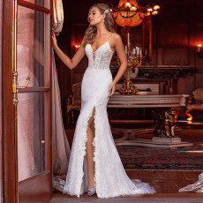 Simple tuxedo with double shoulder lace