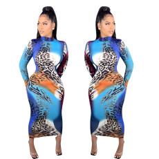 Colorful leopard print dress