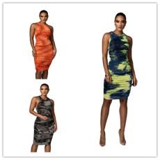 Pleated Tie Dye Dress