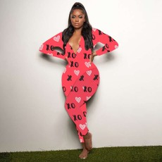 Casual printed home Jumpsuit