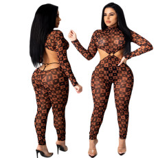 Digital print fashion Jumpsuit